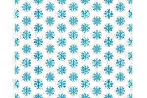Blue Snowflake seamless pattern