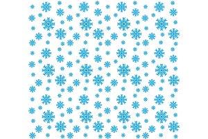 Blue snowflakes seamless pattern