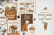 Polar Bear Postcards & Gift Tags