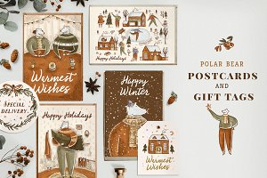 Polar Bear Postcards & Gift Tags