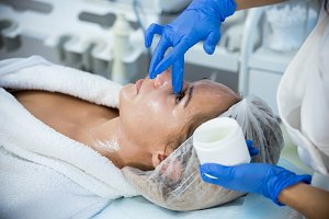 Cosmetology procedures in clinic