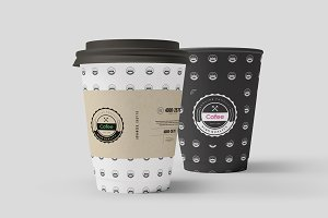 Coffe Paper Cups Mock-up 1