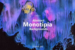 Abstract Monotipia Backgrounds vol.1