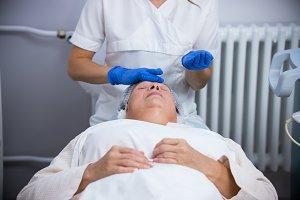 Anti-aging treatments. Massaging