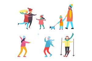 Winter Activities and Hobbies People