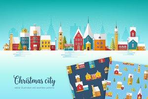 Christmas city set