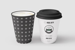 Coffe Paper Cups Mock-up 2