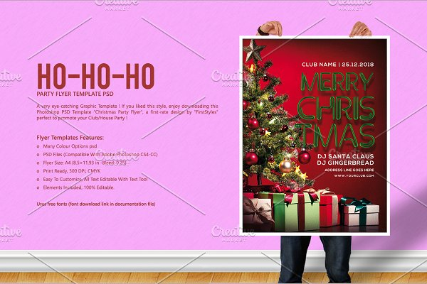 Christmas Invite ~ Flyer Templates ~ Creative Market