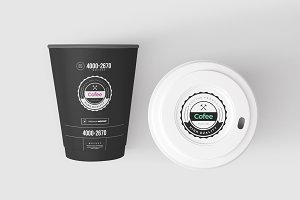 Coffe Paper Cups Mock-up 5