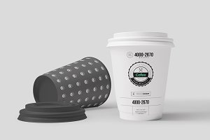 Coffe Paper Cups Mock-up 3