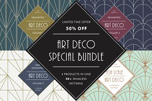 Art Deco Special Bundle   50% OFF