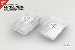 Clear Film Seal Container Mockup