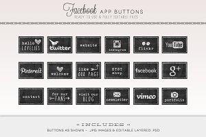 Chalkboard Facebook Tabs & Web Icons