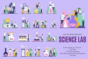 Science Lab Flat Set
