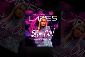Ladies Freak Out Flyer Templates