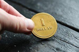 money or business idea, one dollar