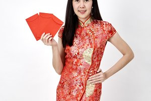 woman and take Red envelopes