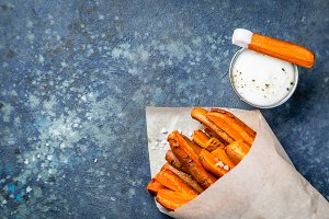 Healthy fries alternative - carrot