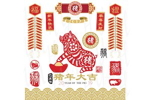 Chinese New Year 2019 Pig Year Set