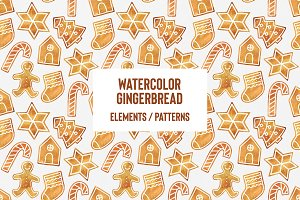 Watercolor Gingerbread