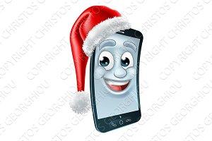 Cell Mobile Phone Christmas Mascot