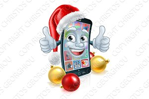 Christmas Cartoon Mobile Cell Phone