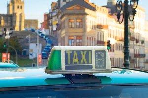Taxi cab car Porto, Portugal