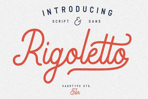 Display Fonts - Rigoletto Script + 70 Alternates
