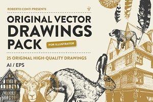 Original Vector Drawings Pack