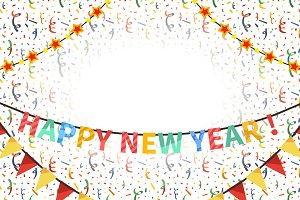 Happy new year card template