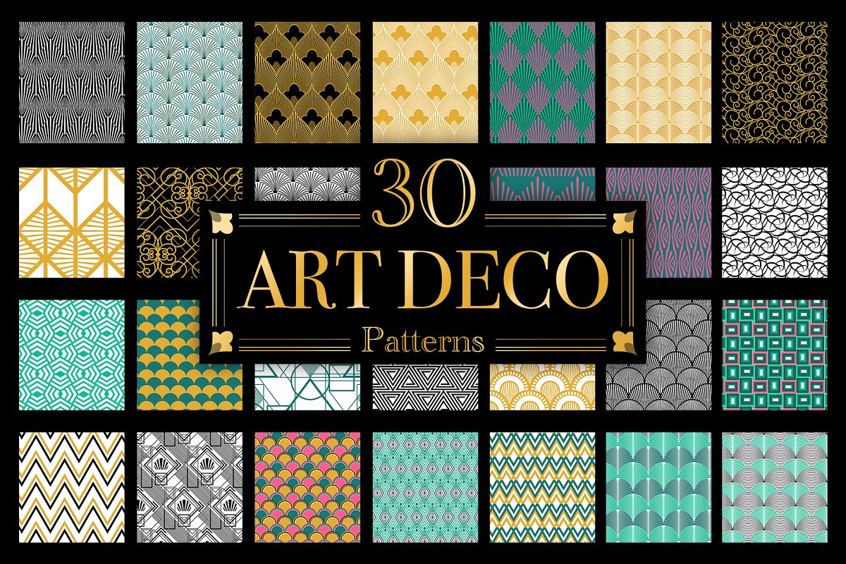 Art Deco vector patterns ~ Graphic Patterns ~ Creative Market