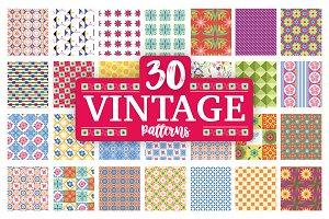 30 Vintage Floral patterns