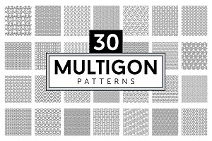 MULTIGON | 30 seamless patterns