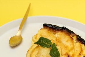 Apple pie. Homemade