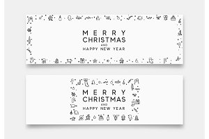 Christmas horizontal banner