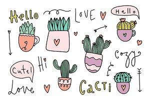 Vector cacti collection