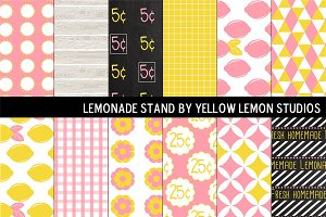 Summer Pink Lemonade stand
