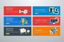 Set of Flat Design Web Banners