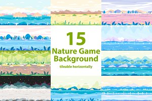 Nature Game Backgrounds Set
