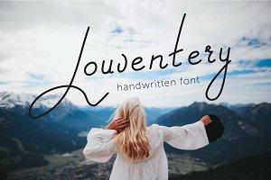 Louventery | a script font