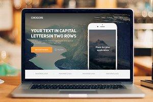 Chogori — Landing Page PSD