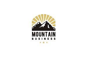 Mountain and Sunshine logo design
