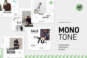 Monotone Streetwear Instagram Bundle