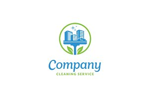 Natural Cleaning Service Logo design