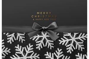 Christmas shining silver snowflakes