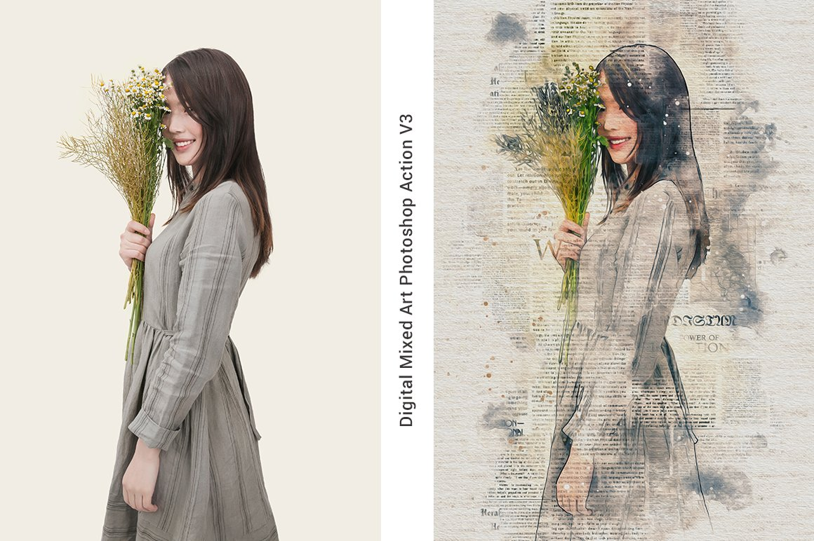 Digital Mixed Art Photoshop Action - Actions - 32