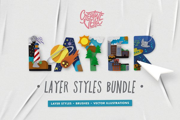 Photoshop Layer Styles: Creative Veila - The Complete Layer Styles Bundle
