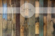Distressed Wood Background Planks