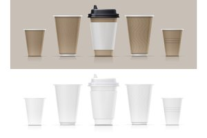 Paper cup for fast-food drink.