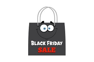 Black Friday Shopping Bag Character